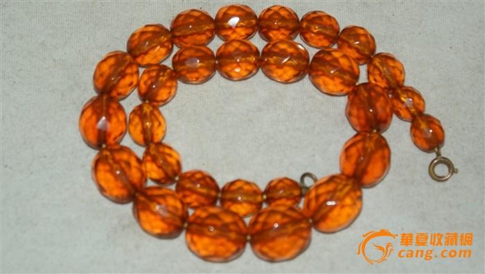 5340 德国菱形切割琥珀项链