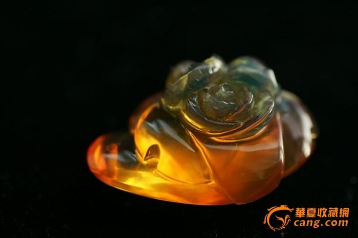 芙蓉牡丹 缅甸金兰琥珀