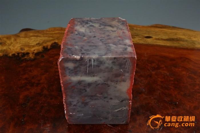 国外回流 正方形石料印章一枚 双面印章 印石