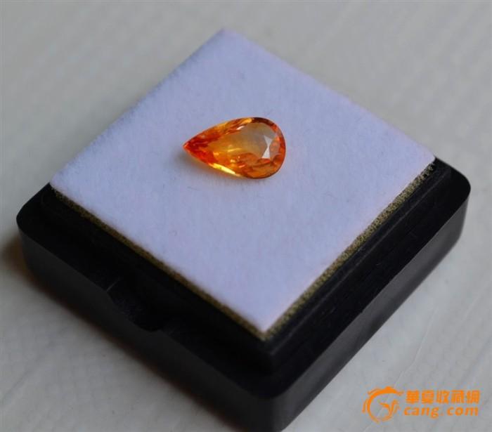 纯黄色蓝宝石 斯里兰卡纯天然水滴型1.04克拉蓝宝石