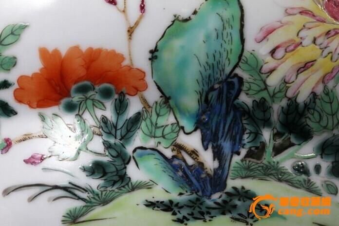 清乾隆 粉彩 花卉纹 折腰 大碗 (一对),19.5厘米。图8