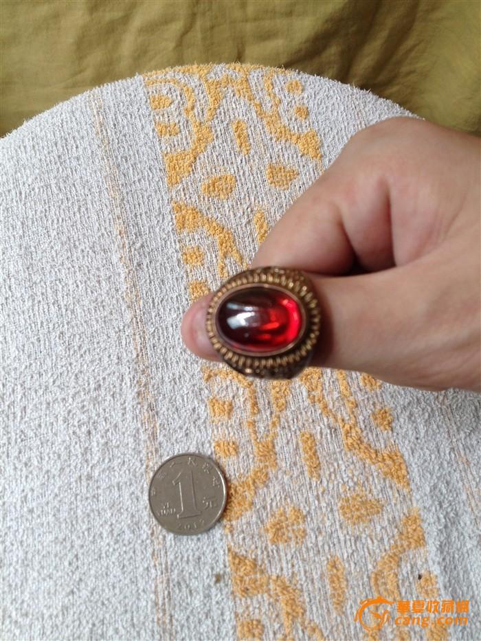 四排排银珠手编戒指图片