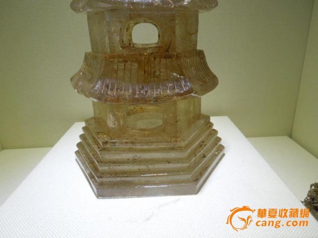 辽金时期天然水晶石佛塔