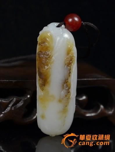 和田玉籽料福寿双全-图1