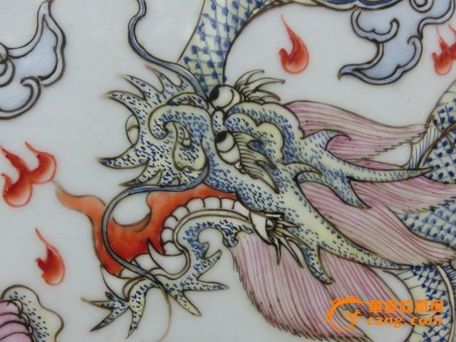 粉彩二龙戏珠挂屏图7