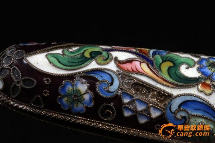 俄国 沙皇时期 精美 掐丝 珐琅 银鎏金 单只 雪茄盒图10