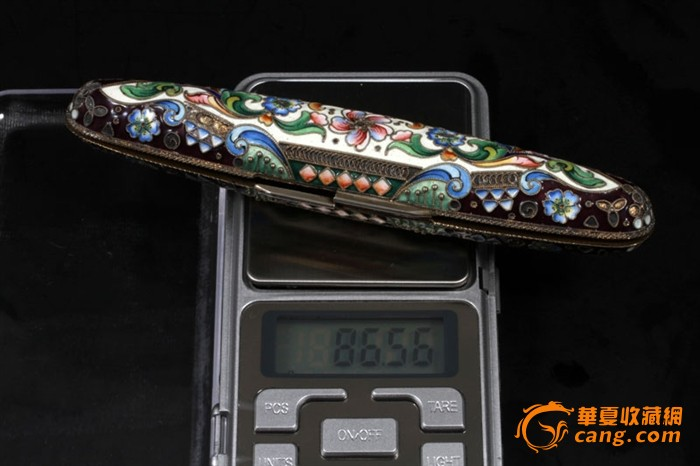 俄国 沙皇时期 精美 掐丝 珐琅 银鎏金 单只 雪茄盒图12