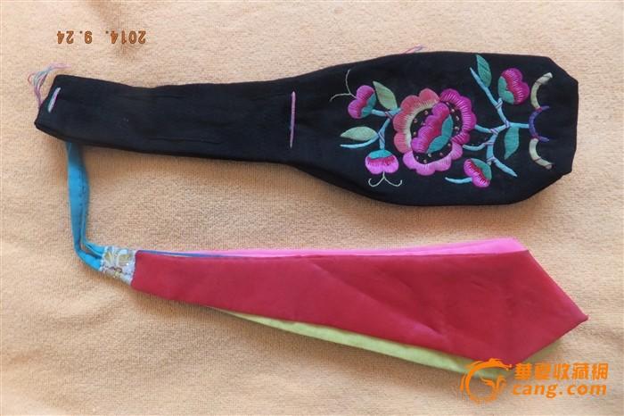 华夏古玩城 工艺品 编织 > 蒙古族手工刺绣烟荷包