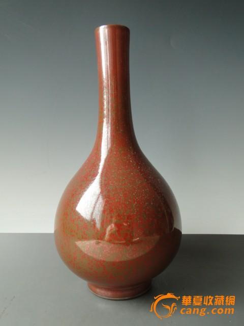 老物件收藏品明代花釉玉壶春瓶-图1
