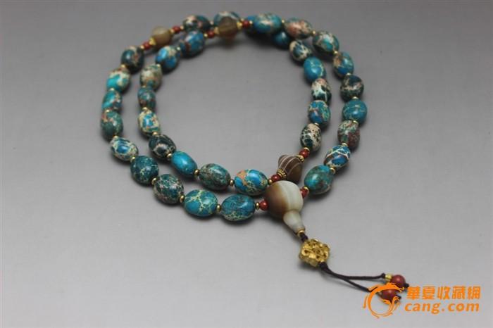 草松石串珠(绿松石的一种)-图1