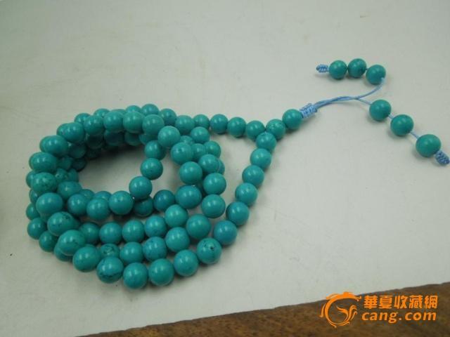 91克108粒绿松石圆珠手串佛珠一条-图1
