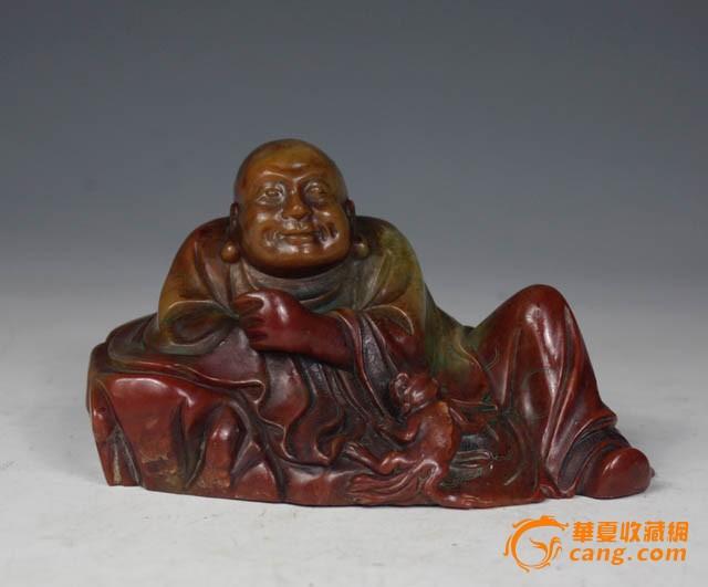 清代 寿山石雕罗汉像【友尚收藏】