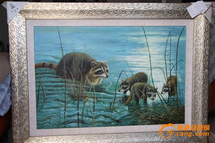 油画家张弓正小熊猫  年代: 其它 款式: 横幅 品相: 全品 内容: 动物