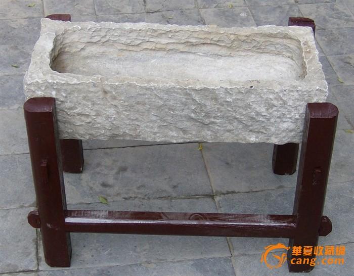 创意木架石槽