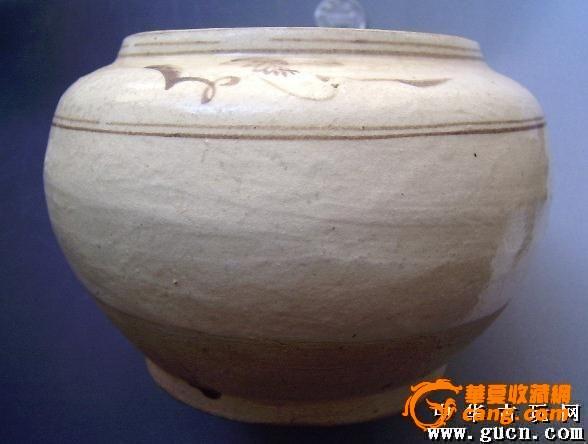 宋元时期花纹围棋瓷罐子摆件不老包退