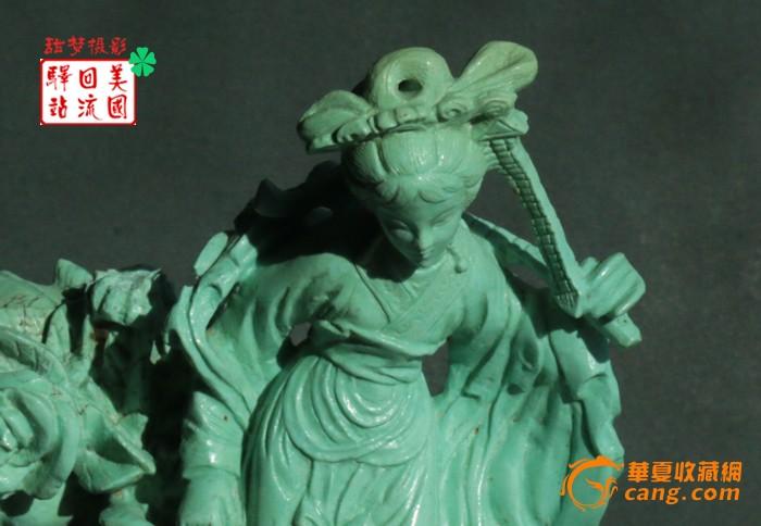 回流:建国初期精美湖北松石雕件--黛玉葬花【免费EMS直邮】图5