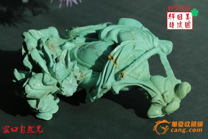 回流:建国初期精美湖北松石雕件--黛玉葬花【免费EMS直邮】图9
