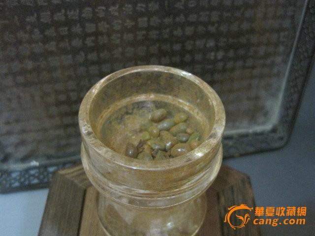 佛教藏品汉代老水晶舍利塔舍利瓶有舍利子