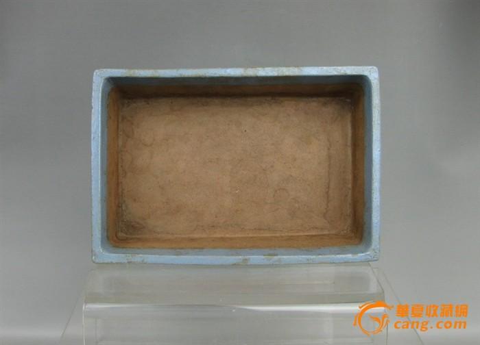 清代   紫砂带彩牡丹水仙盘『聚古斋』图5