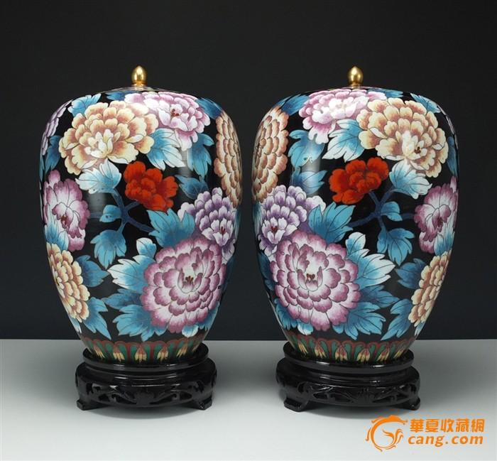 晚清民初*铜胎画珐琅*【百花不落地】莲子罐-图1