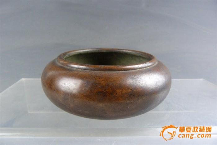清代 素工铜香炉-图1