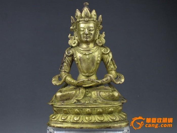 鎏金铜佛像-图1