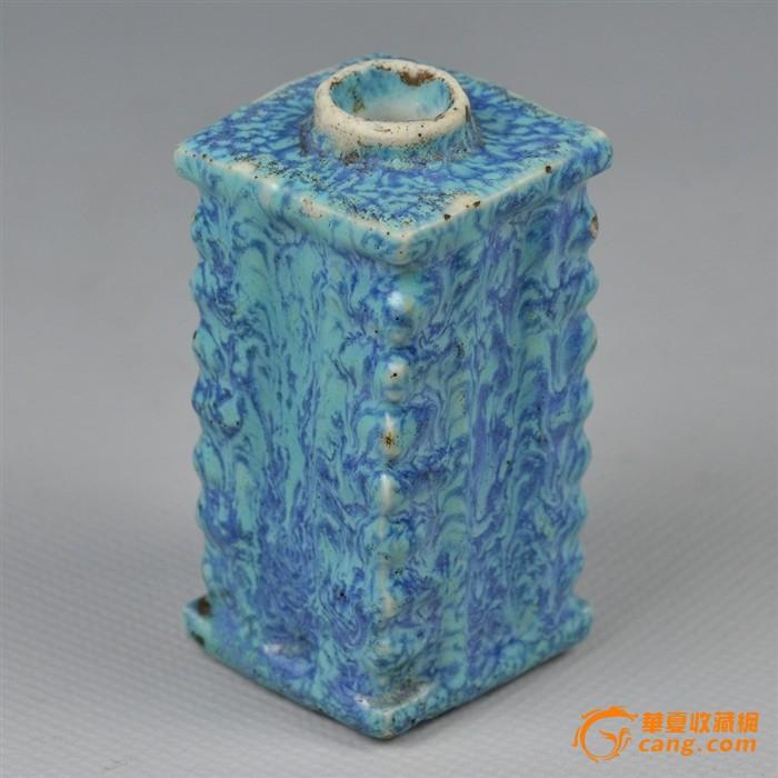 乾隆炉钧釉琮式小瓶图2