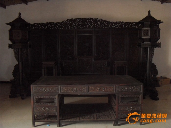 古代老家具紫檀木屏风一套