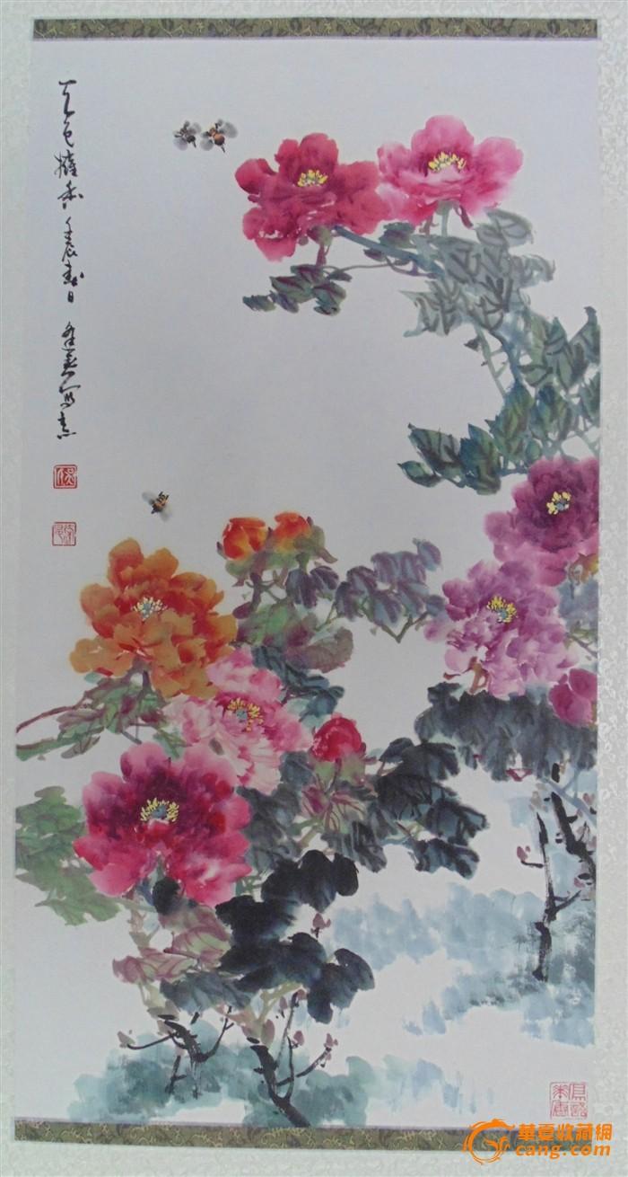 海派花鸟名家吴逢春国画牡丹