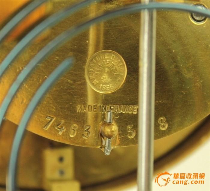 故宫藏品- 罕见51公分大型四明奖杯珐琅钟图8