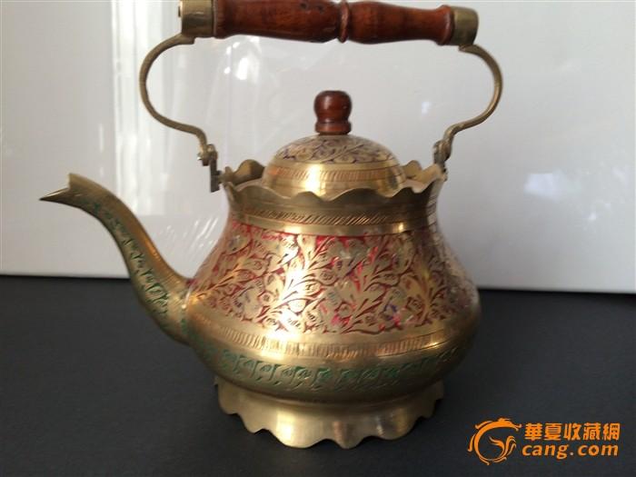 欧洲古董手工铜壶图片