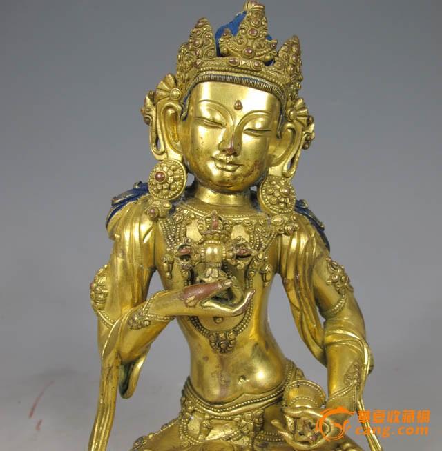 清代 铜鎏金金刚萨埵坐像图2