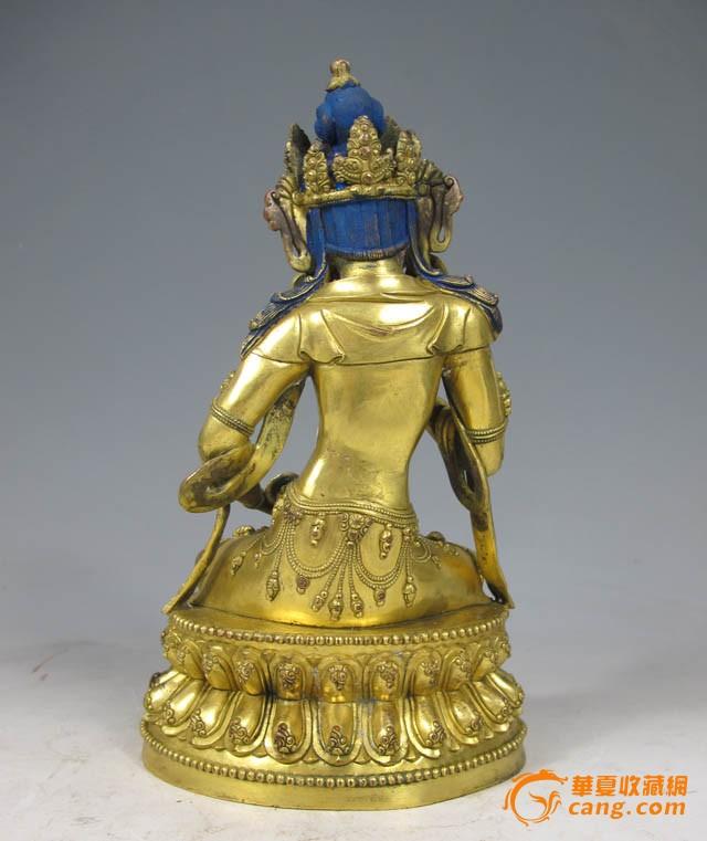 清代 铜鎏金金刚萨埵坐像图5