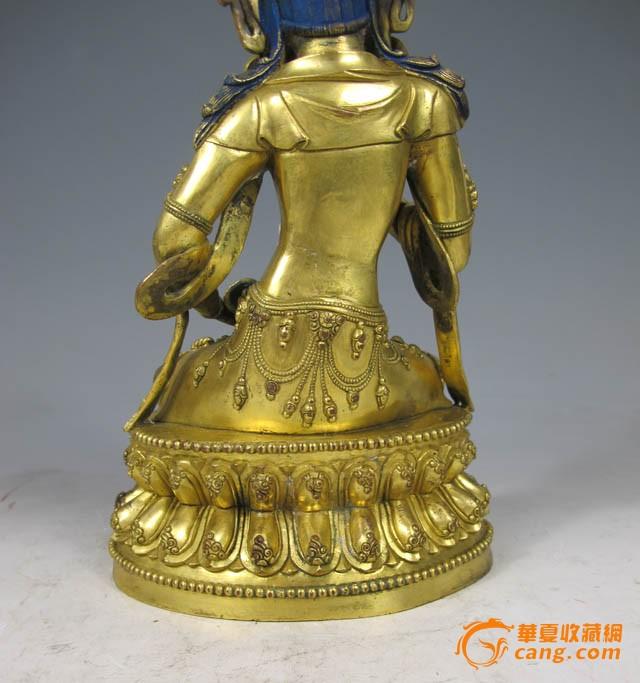 清代 铜鎏金金刚萨埵坐像图7