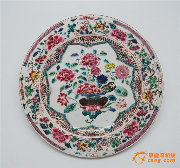 雍正粉彩花卉纹对盘图2