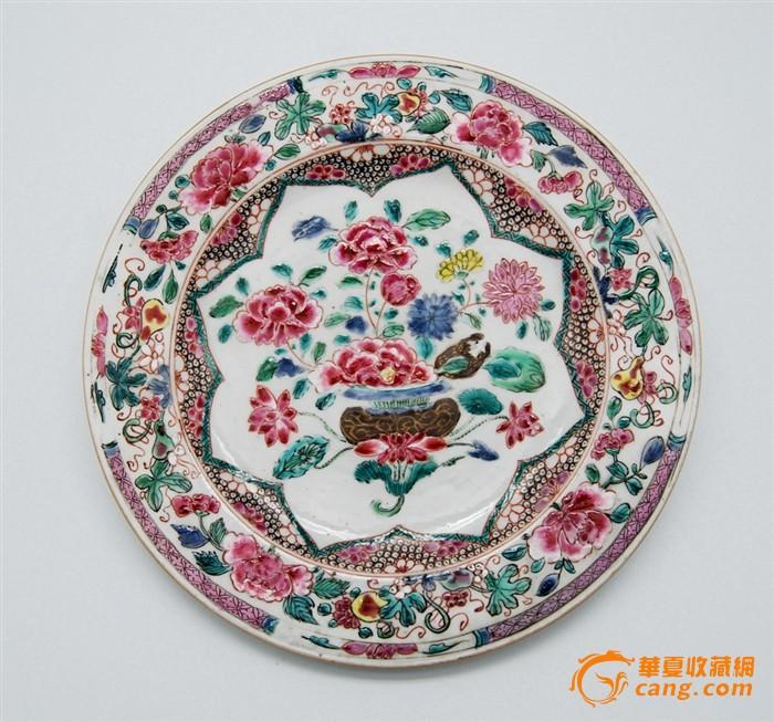 雍正粉彩花卉纹对盘图4