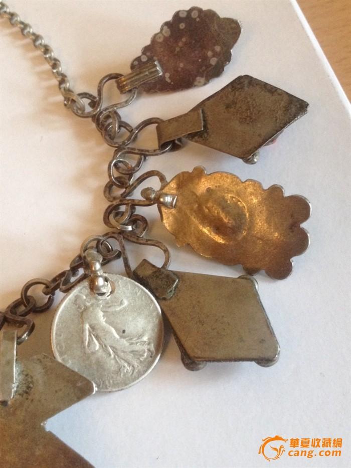 100255 古董银嵌红珊瑚项链图12