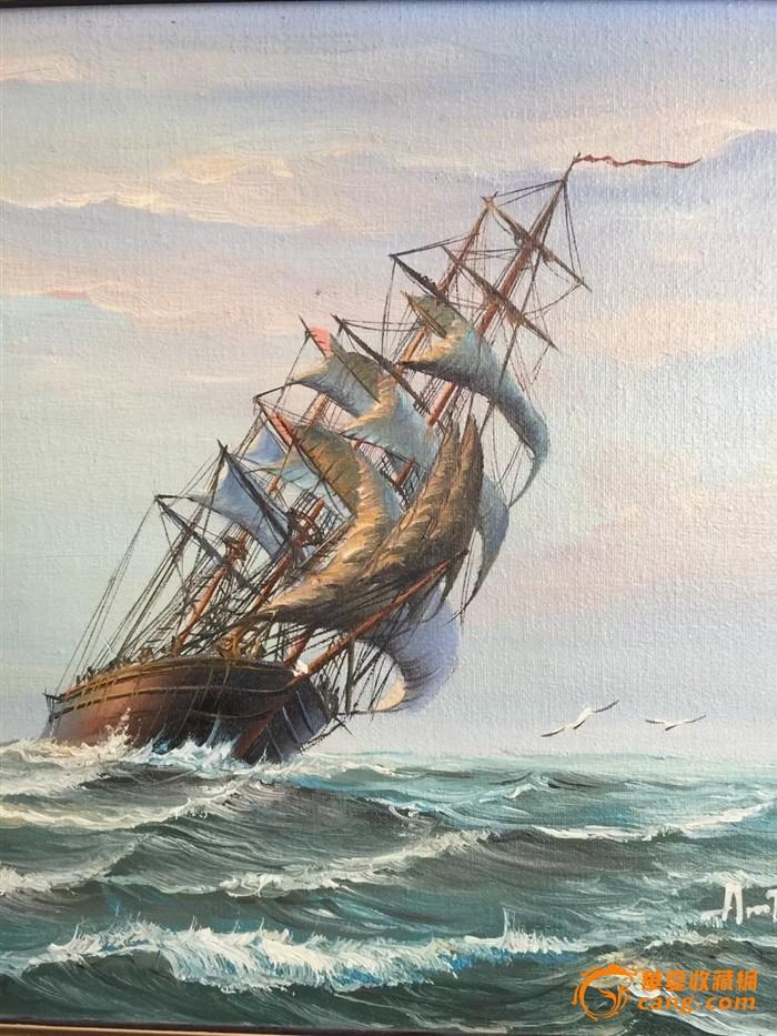 彩色航母战手绘