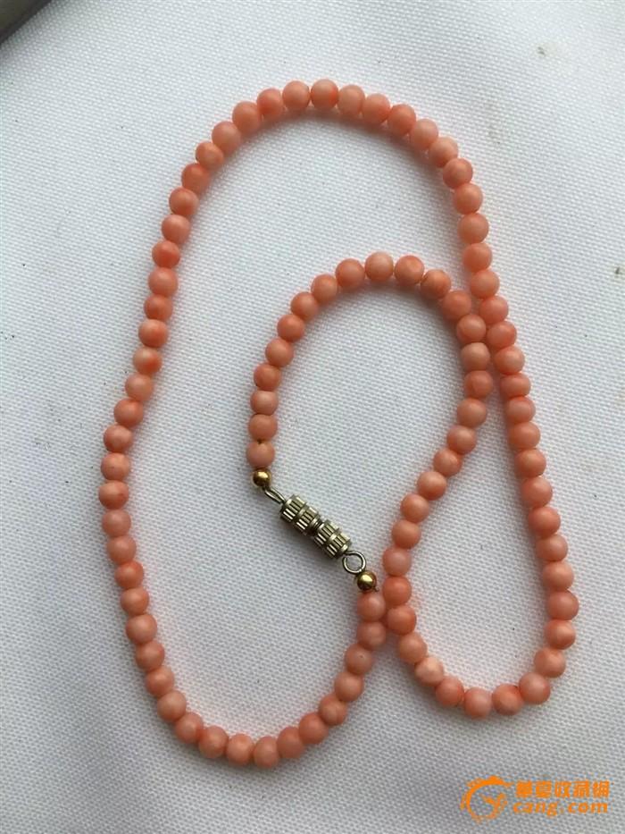 欧洲茉莉回流【天然珊瑚】圆珠老项链