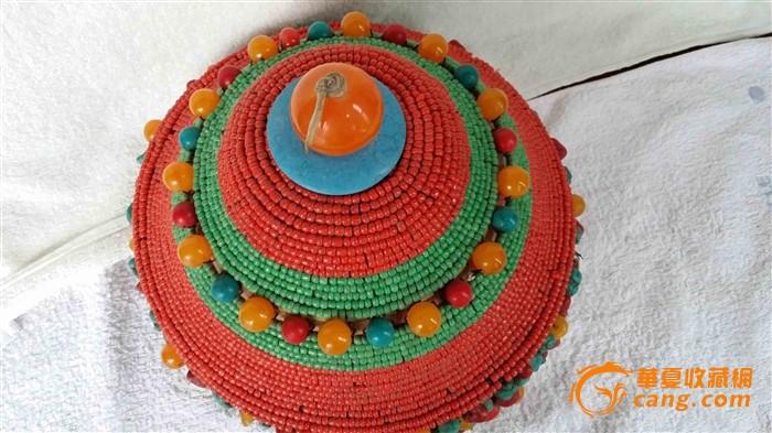 蒙古公主宝石帽