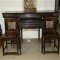 【传统红木家具收藏】包老晚清红木条案方桌对椅一套