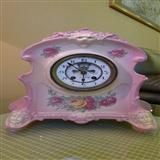 粉红谦信洋行德国瓷壳钟