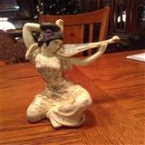 日本 雕像/日本琵琶仕女雕像