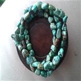 藏传老绿松石项链