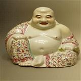 清 弥勒佛瓷塑像(万同顺方款)