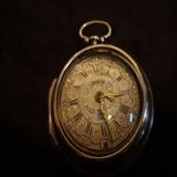1743年英国银制芝麻链带日历功能古董怀表