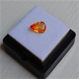 【纯黄色蓝宝石】斯里兰卡纯天然水滴型1.04克拉蓝宝石