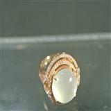 老坑A货玻璃种18K金镶嵌戒指