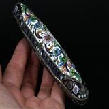 俄国 沙皇时期 精美 掐丝 珐琅 银鎏金 单只 雪茄盒