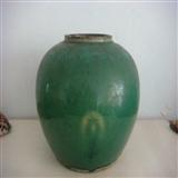 唐代绿釉罐
